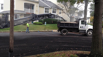 Asphalt Maintenance, Inc. - Malvern PA, Before & After large scale paving project.